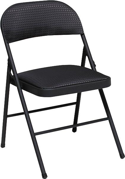 Cosco Fabric Folding Chair Black (4 Pack)