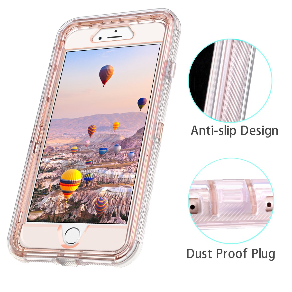 b1d54bd9f7 Coolden iPhone 8 Plus Case, iPhone 7 Plus Case, 3D Glitter Sparkle Dual  Layer Quicksand Liquid Cover Shockproof Bumper Anti-Drop PC Frame + TPU  Back for ...