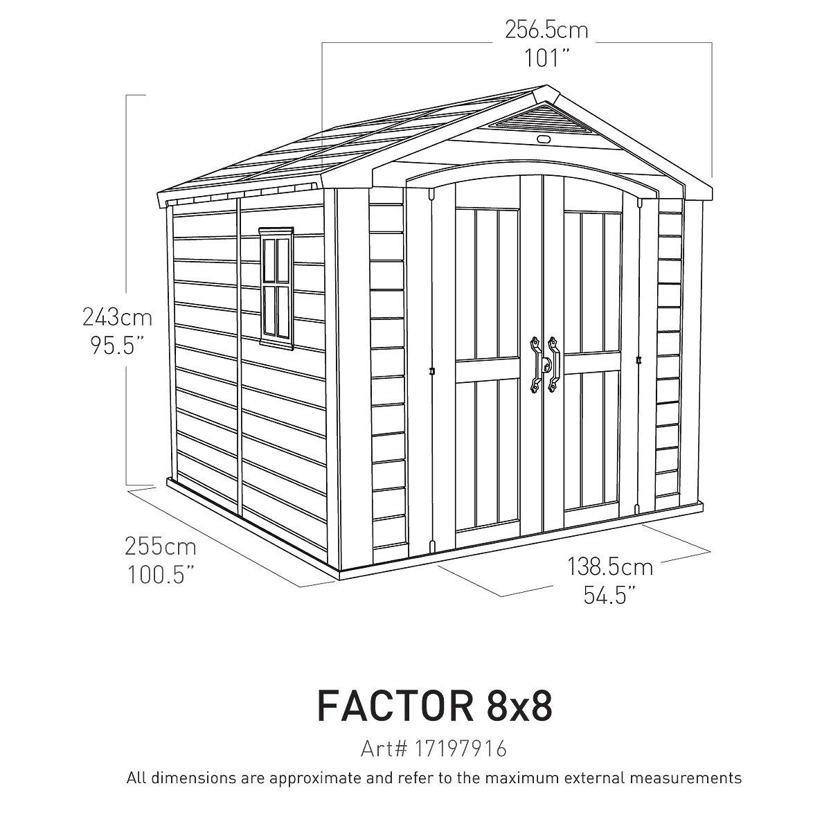 nouveau produit b69c6 d541d Abri de Jardin Keter Hangar de Stockage Keter Factor 88 ...