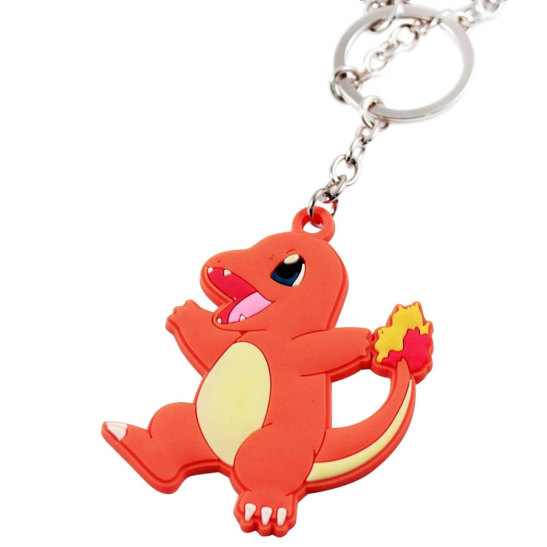Charmander Rubber w//3 Dangles Key Chain Pokemon