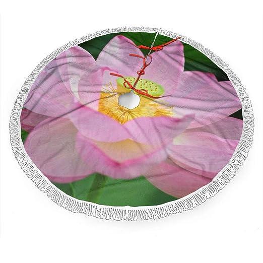 Falda para árbol de Navidad, diseño de Flor de Loto, Color Rosa ...