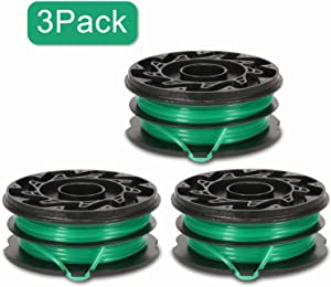 """Eyoloty String Trimmer Spools Replacement for Black Decker GH1100 GH1000 GH2000 Weed Eater DF-080 Replacement Spool Line Refills Dual Line Edger Parts 30ft 0.080"""" Auto-Feed Spool (3 Pack spools)"""