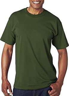 product image for Bayside Men's American Made Cotton Basic T-Shirt, FOREST GREEN, S