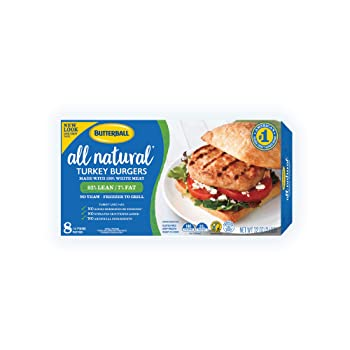 Butterball All Natural White Turkey Frozen Burger