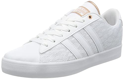 quality design 55f97 434f3 adidas neo Womens Cloudfoam Daily Qt Lx W Ftwwht and Coppmt Sneakers - 4  UK