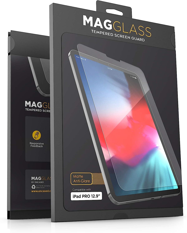 "MagGlass iPad Pro 12.9"" Tempered Glass Matte Screen Protector - Fingerprint Resistant Anti Glare Screen Guard (Case Compatible)"