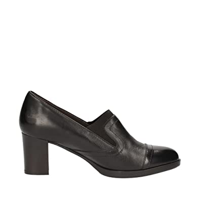 Melluso Shoes For Women Black Leather Heel 6 cm: Amazon.co.uk: Shoes & Bags