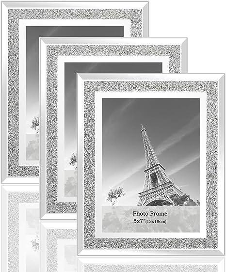 Gold Diamond Crush Photo Frame Photoframe Picture Glitter Sparkle 4 x 6