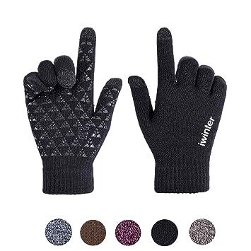e9d4ee8e42a36 Xuzirui Winter Warm Touchscreen Gloves for Women Men Knit Wool Anti-Slip  Thermal Soft Lined
