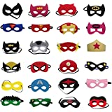 OWLPH Superheroes Party Masks for Children Party Masquerade,24 Piece Superhero Cosplay Masks- latex-free,Perfect for Children Aged 3+
