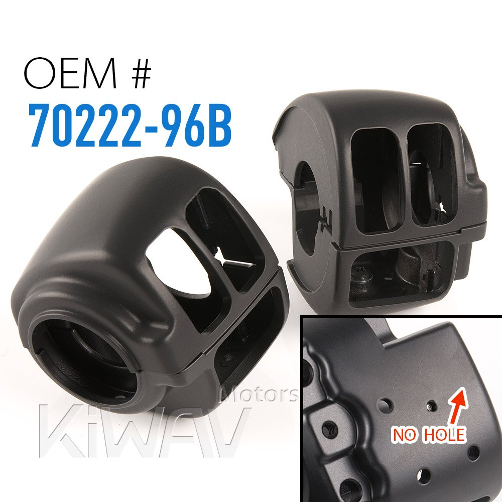 KiWAV black aluminum switch housing 0016 fit 1996-2015 Harley-Davidson OEM#70222-96B by KiWAV