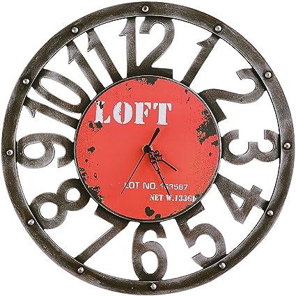 Relojes de pared MEHE@ Creativo Elegante Personalidad Artes Imitación de Reloj de Metal de Estilo