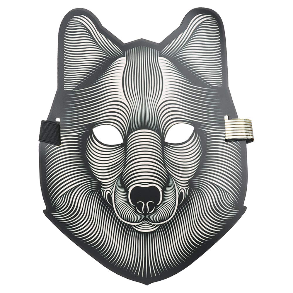 WDDH Music LED Party Mask Voice Control Up Scary Mask Halloween Cosplay by WDDH (Image #5)