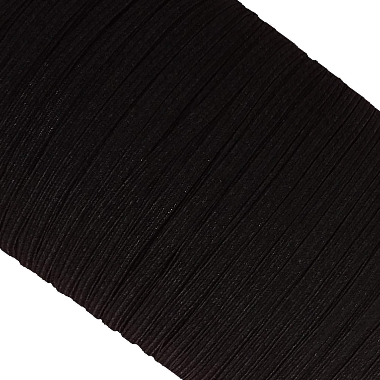 Manualidades el/ástico y el/ástico Trimming Shop Cord/ón el/ástico para Hacer Cintas Correas lencer/ía Negro Pulseras Cintas 5mm x 25m proyectos de Bricolaje