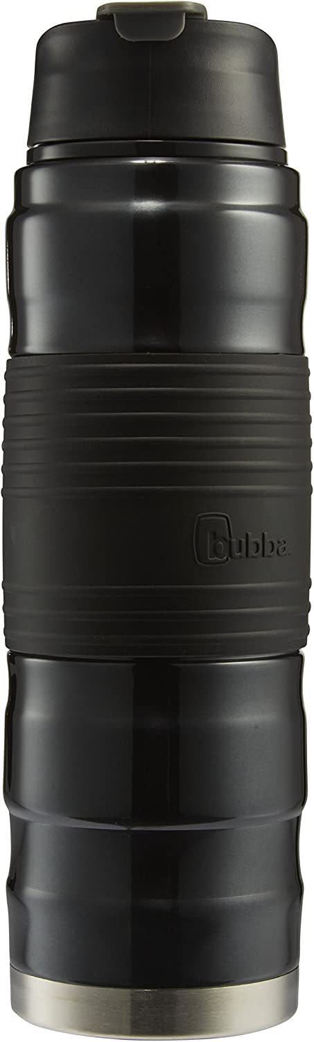 bubba Hero Dual-Wall Vacuum-Insulated Stainless Steel Tumbler with Grip, 24 oz., Matte Black