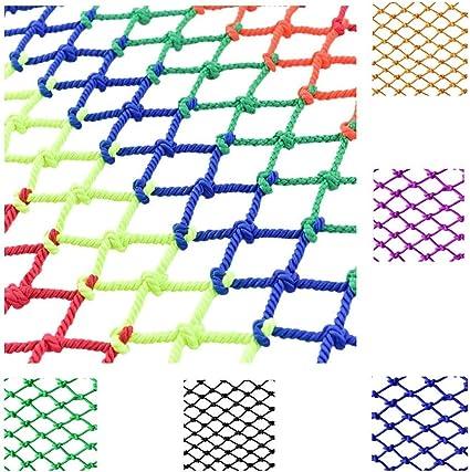 WSQ net Color Nylon Cuerda Red 6mm 6cm Niños Red de ...