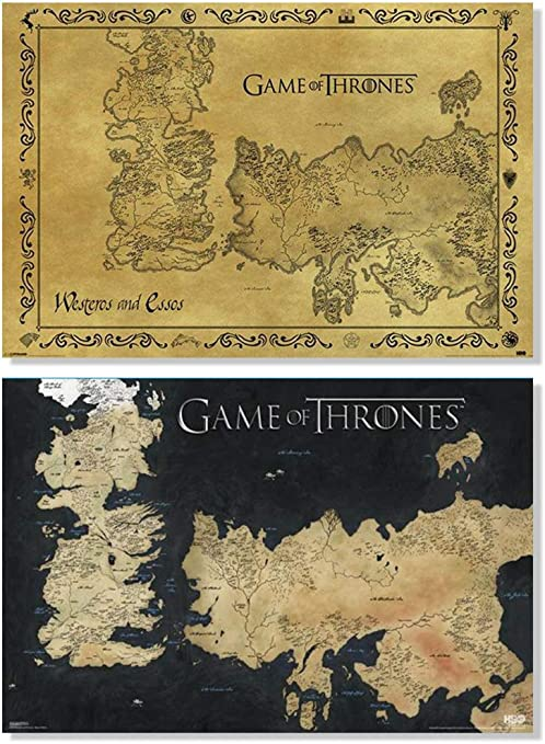 Game of Thrones Retro World Map poster  wall poster US SELLER