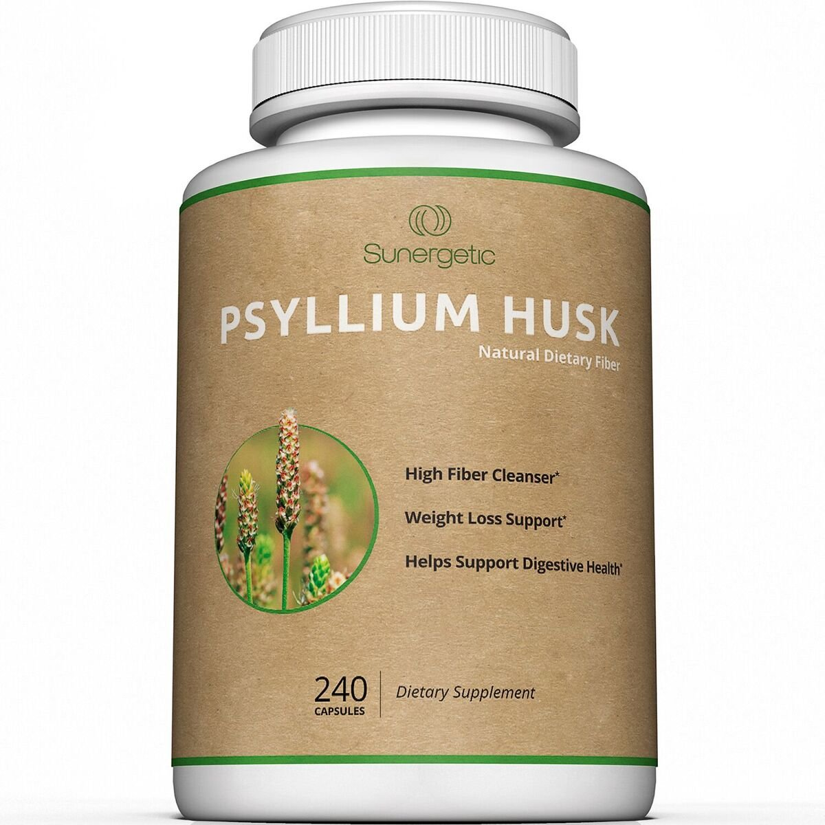 Best Psyllium Husk Capsules - 725mg Per Capsule -240 Capsules - Powerful Psyllium Husk Fiber Supplement Helps Support Digestion, Weight Loss and Constipation – Premium Natural High Fiber Cleanser