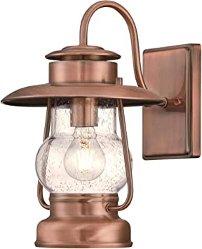Westinghouse Lighting 6373100 Santa Fe One Light Outdoor Wall Lantern Washed Copper Finish With Clear Seeded Glass Porch Light Amazon Com