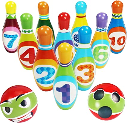 CXTSMSKT Kids Bowling Toys Set Toddlers Indoor Numeral Educational Toys for Boys Girls