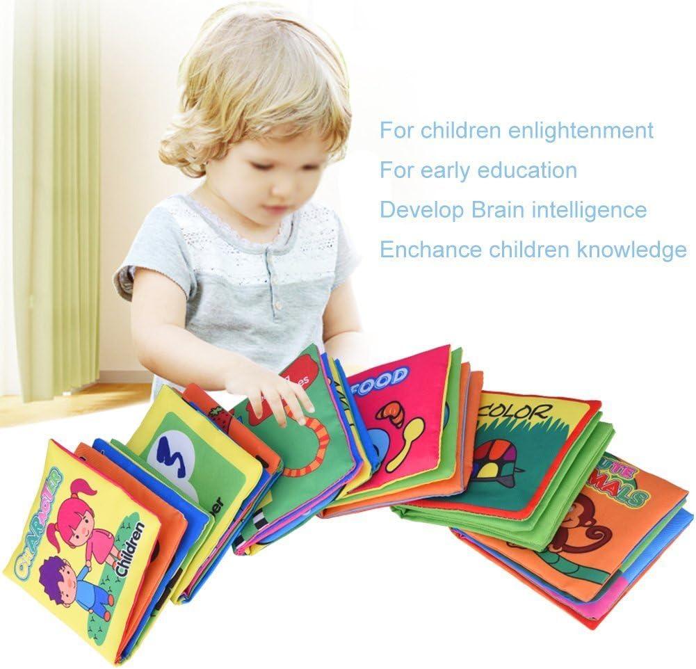 Yosoo blando de colour negro Puzzle pa/ño beb/é libro de tela acolchada libro apto para 3 meses hasta 3 a/ños para ni/ños color Set of 6 10 x 9 cm aproximadamente