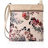 Joyzeal Crossbody Bag Multi Zipper Pocket Bag Flower Design Handbag Purse for Women Shoulder Bag