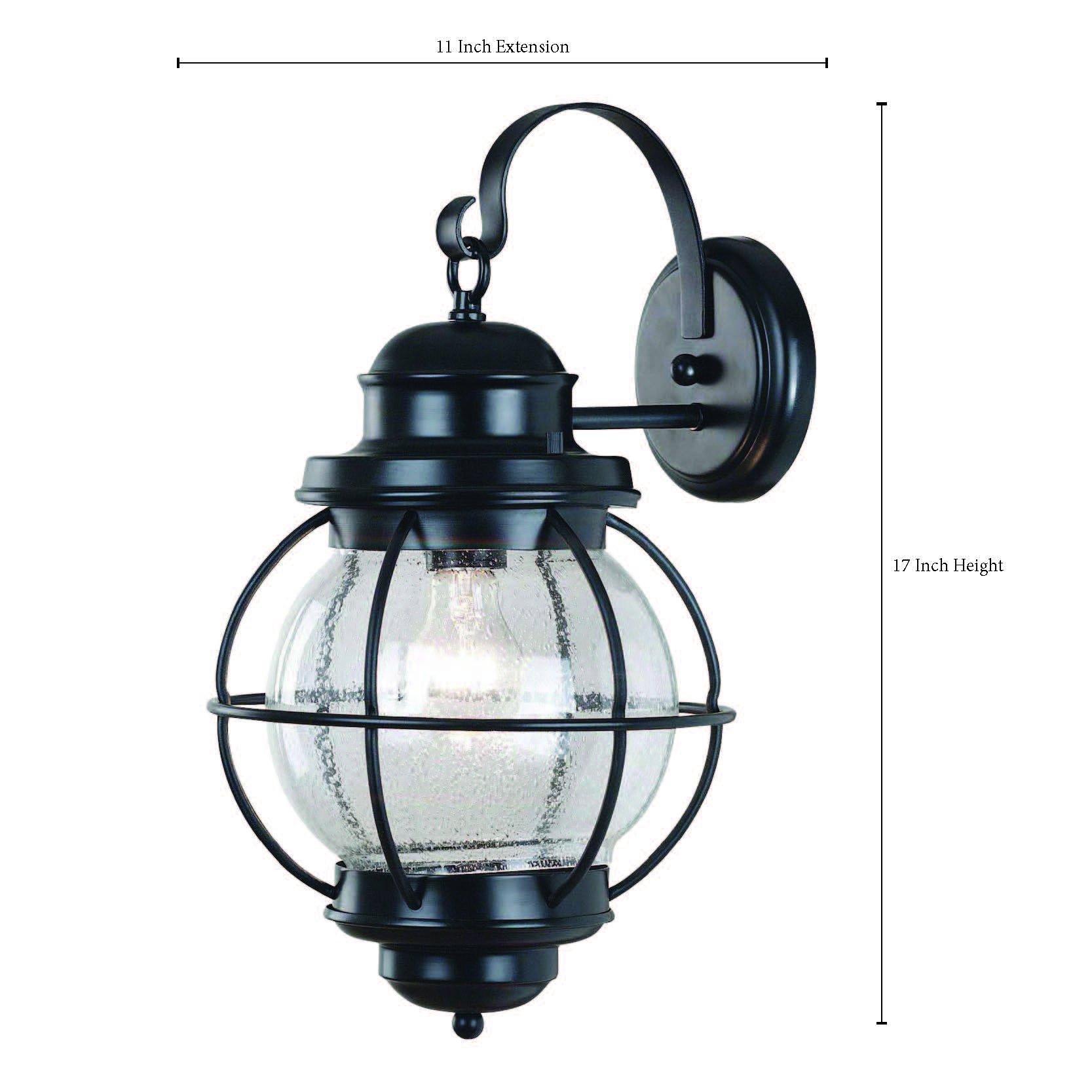 Kenroy Home 90963BL Hatteras Large Lantern, Black
