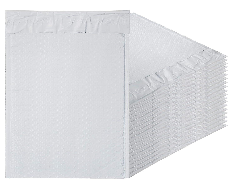 ホワイトポリバブルMailers 9.5 X 13.5パッド入り封筒9 1 / 2 x 13 1 / 2 by aMiff。50パックポリクッション封筒。Exteriorサイズ10 x 13.5 (10 x 13 1 / 2)。Peel andシール。宛名、出荷、パッキング。 B07FMF5TJJ