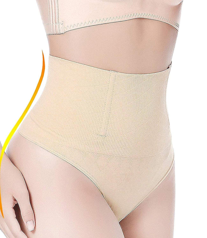OUSPOTS Women Waist Cincher Tummy Control High Waist Shaping Panty Thong Shapewear