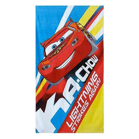 Toalla Playa Cars Pixar Disney Caleffi de rizo de algodón M822