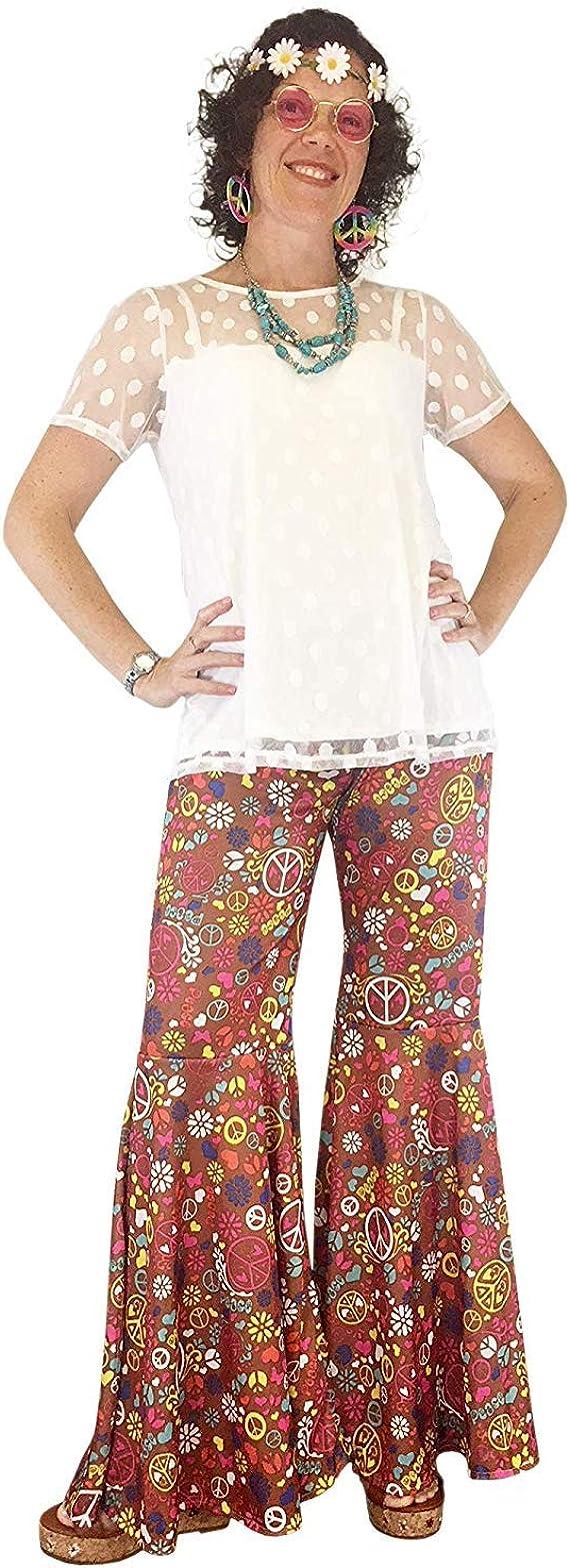 Amazon.com: Groovy - Pantalones de disfraz de campana de los ...