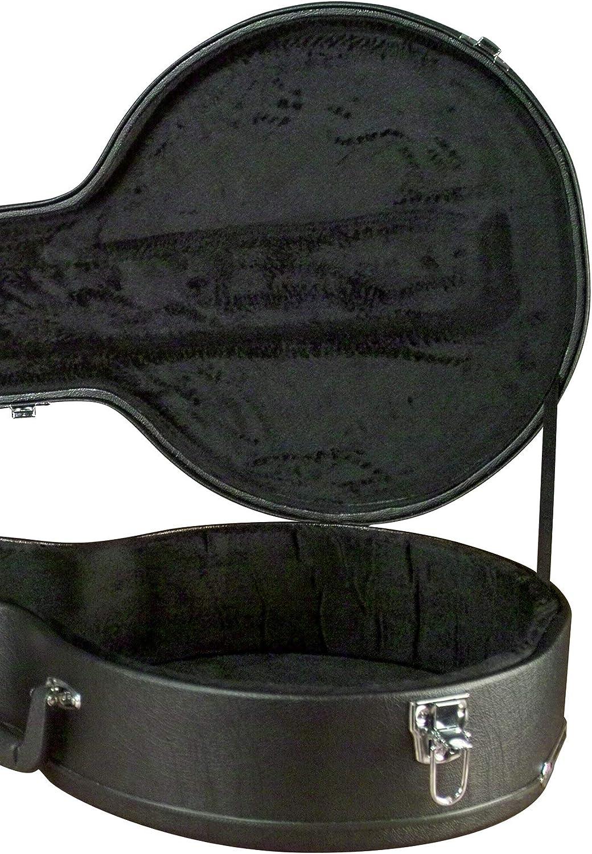 Carrion C-3701 Black Hardshell A-Model Mandolin Case,Natural