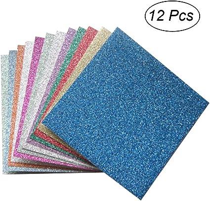 Amazon.com: ROSENICE Glitter Origami Paper Square Sheets ...