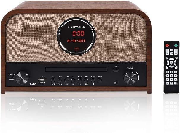 Musitrend Retro Dab Fm Stereo Radio Mit Cd Player Und Elektronik