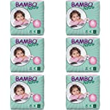 Bambo Nature Premium Baby Diapers, Size 6, 132 Count (6 Packs of 22)