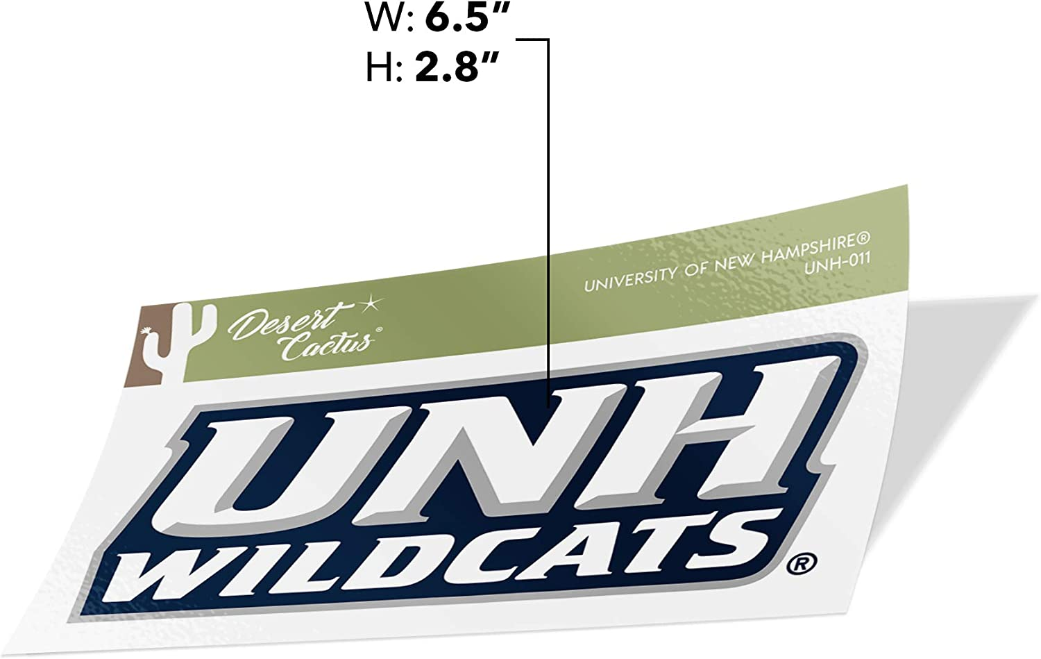 University of New Hampshire UNH Wildcats NCAA Vinyl Decal Laptop Water Bottle Car Scrapbook State Boarder Sticker