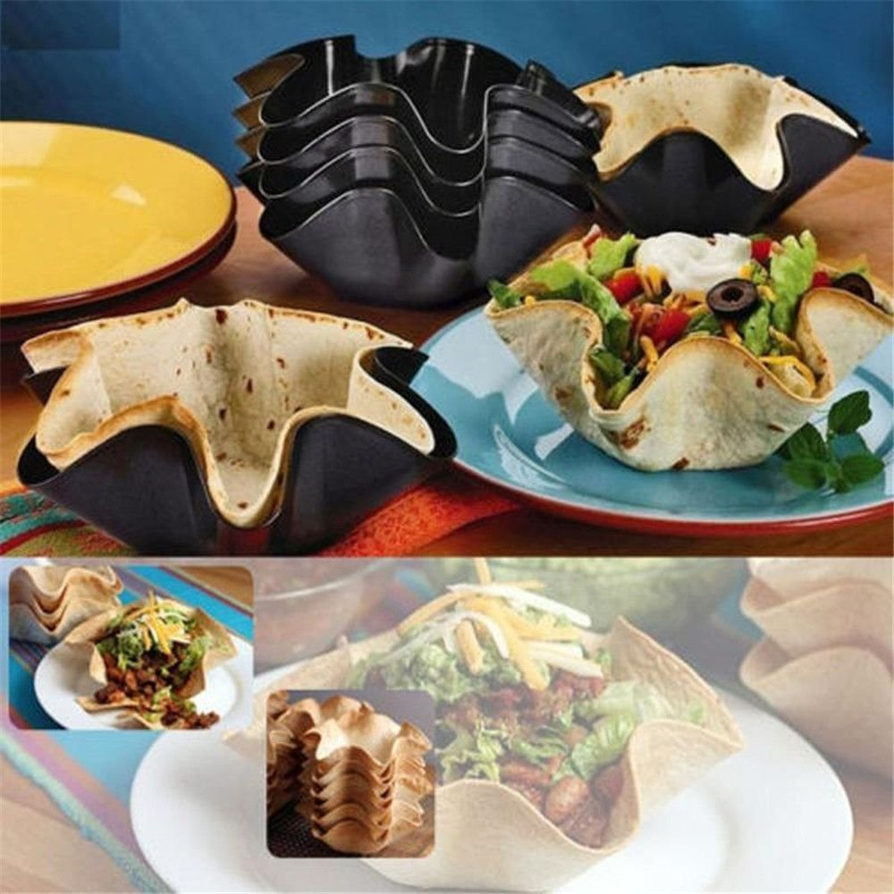 TXIN Nonstick Tortilla Pan Set, Taco Salad Bowl Makers Tortilla Shell Makers, Set of 4 by TXIN (Image #8)