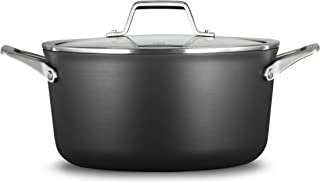 product image for Calphalon Premier Hard-Anodized Nonstick 6-Quart Stock Pot with Cover, Black
