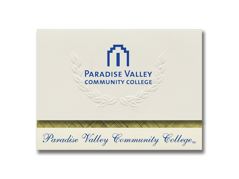 Signature Ankündigungen Paradise Valley Community College Graduation Ankündigungen, platin Stil, Elite Pack 20 mit Paradise Valley CC LOGO Farbe B0793JTN5C | Schön In Der Farbe