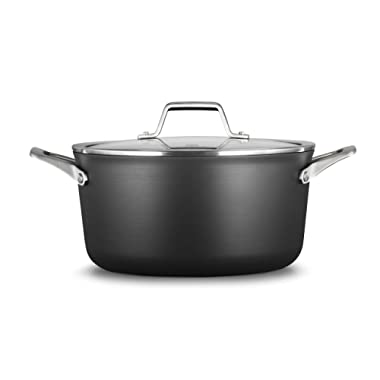 Calphalon 2029623 Premier Hard-Anodized Nonstick 6-Quart Stock Pot with Cover, Black