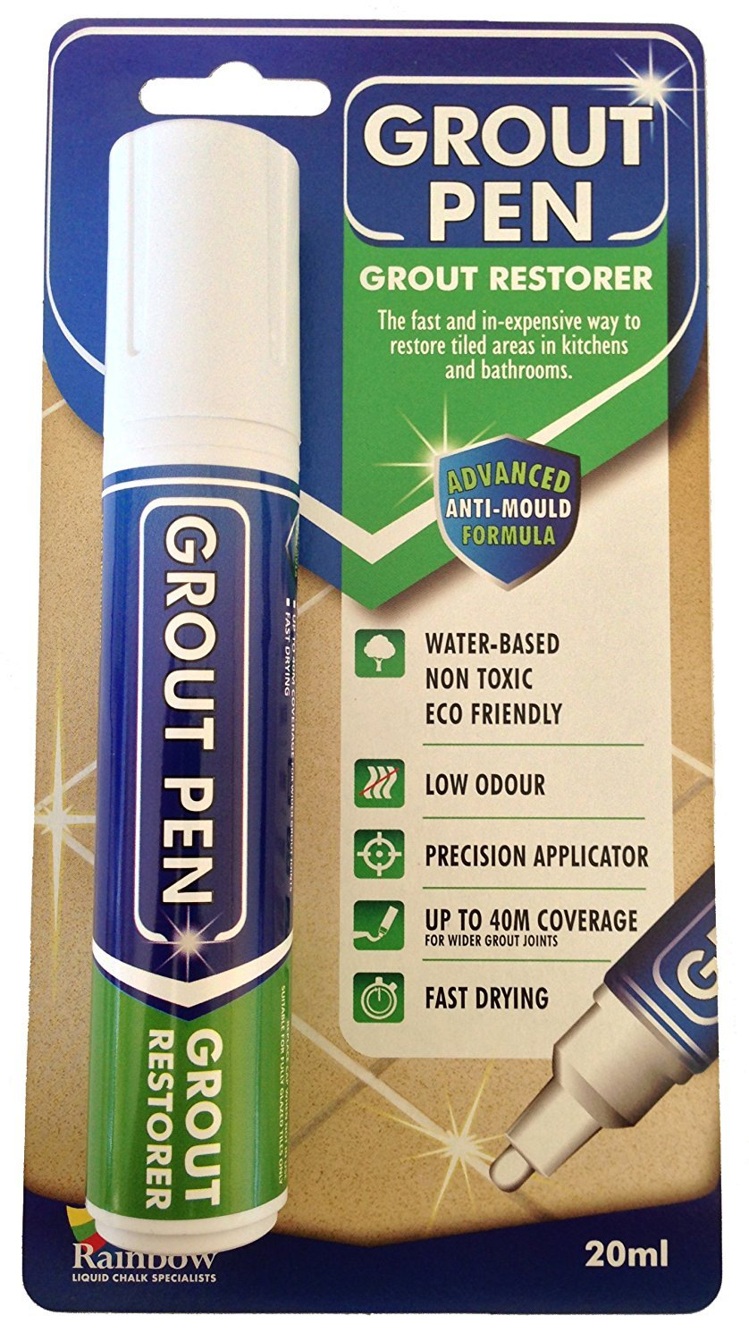 Rainbow Chalk Markers Ltd Grout Pen 1 Each and every large grout pen has a 15mm broad nib The formula used to create each grout pen is both water-based and non-toxic which makes it safe to use everywhere The antibacterial and anti-fungal formula makes it the safest choice