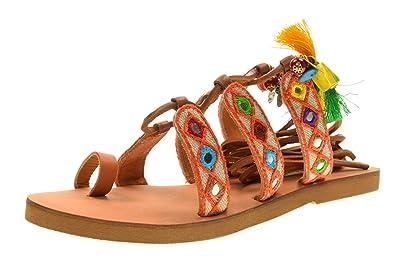 Coral Blue Sandales Femmes Chaussures esclaves CB.K217.12 Taille 37 Peau jcjThNVQA0