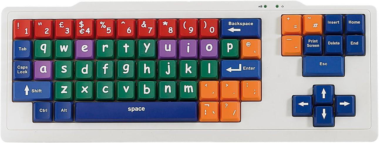 GeneralKeys – Niños Teclado: USB de teclado de aprendizaje para niños (Multicolor Teclado)