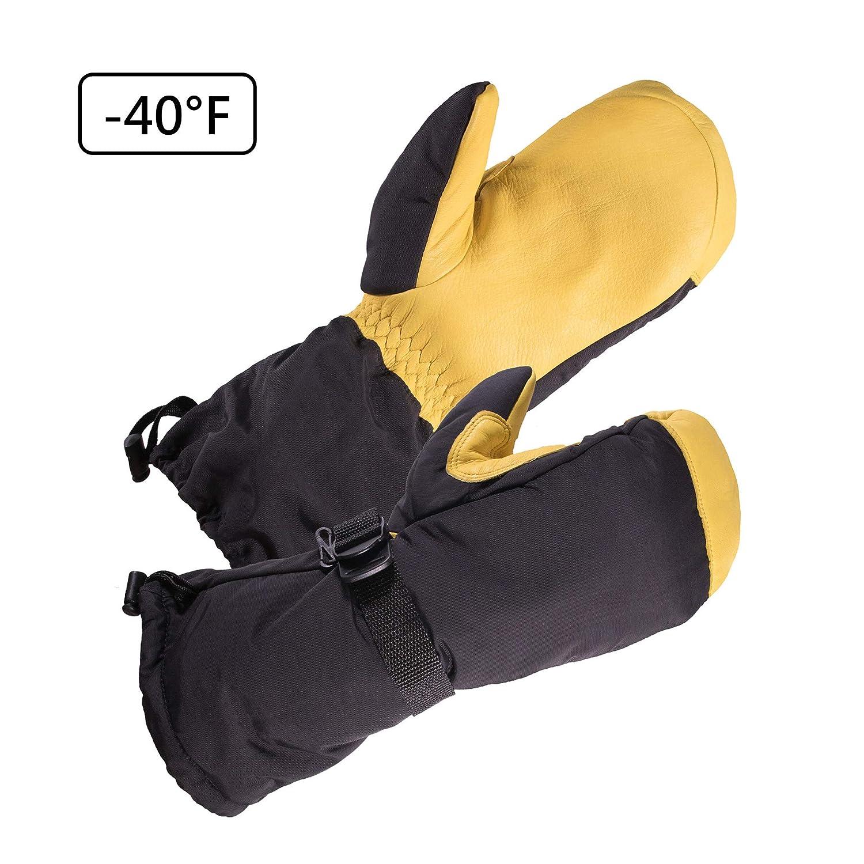 SKYDEER -40°F Cold-proof Winter Gloves with Waterproof Premium Genuine Deerskin Leather (SD8648T/L) SKYDEER CO.