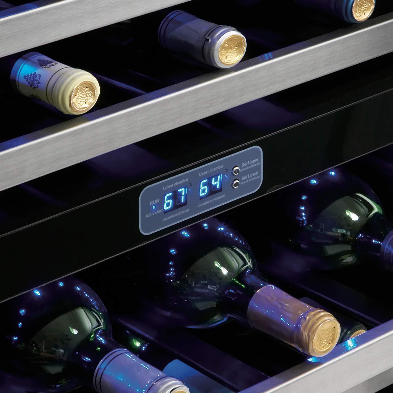 51-Bottle Silhouette Wine Cellar Black//Stainless Danby DWC518BLS 5.1 Cu Ft