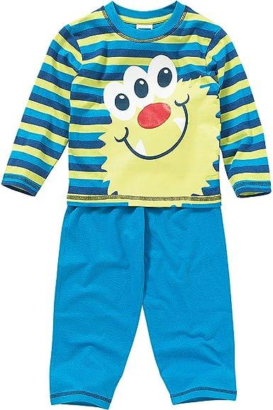 Canción Infantil Niños Cute Monster Face algodón pijama Azul ...