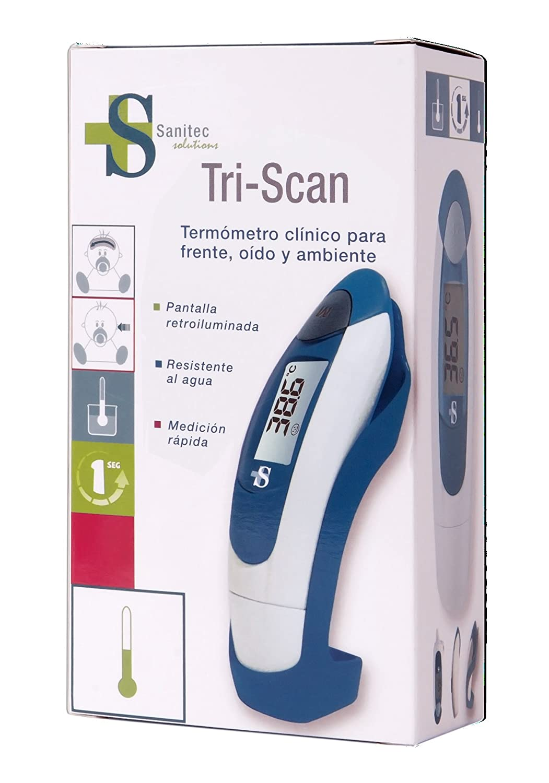 Sanitec Tri-Scan Termómetro Rectal, Oral y de Axila Digital - 30 gr: Amazon.es: Salud y cuidado personal