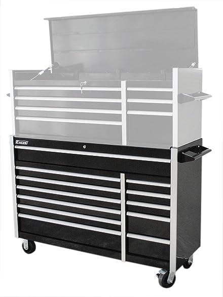 Amazon.com: Excel TB5607B-Black 56-Inch Roller Metal Tool Cabinet ...