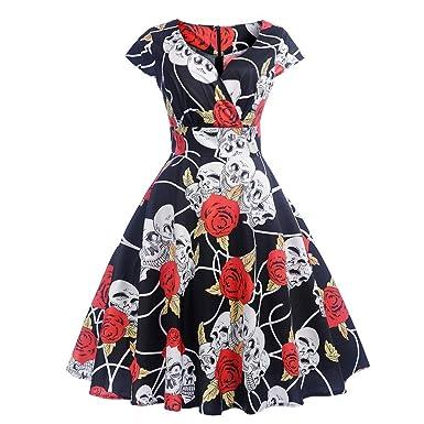 beautyjourney Vestido de cóctel Retro Vintage de los años 50 para ...