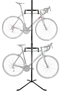 2 bike bicycle floor rack stand - Indoor Bike Rack